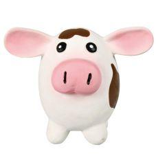 Hračka pre psa - latexová krava, 9x11cm