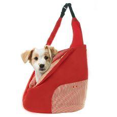 Taška pre psa alebo mačku cez rameno - červená, 45x42cm