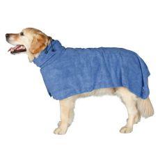 Župan pre psov - modrý, 75cm