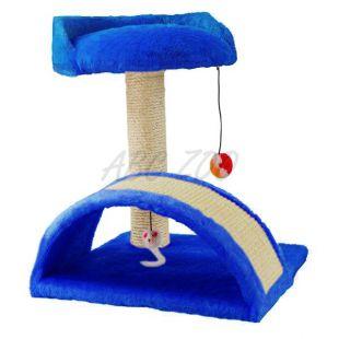 Škrabadlo pre mačky, modré - 35x35x45cm