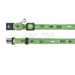 Obojok pre mačky, zelený - mačiatka - 18 - 30 cm
