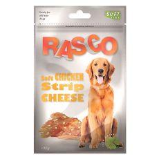 Pamlsky RASCO - kuracie prúžky so syrom, 80 g