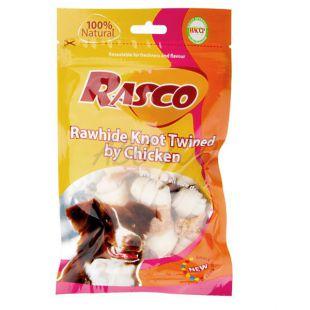 Pamlsky RASCO - byvolí uzol obalený kuracím mäsom, 80 g