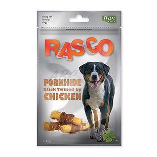 Pamlsky RASCO - bravčové tyčinky obalené kuracím mäsom, 80 g