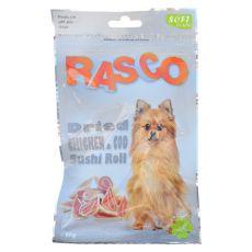 Pamlsky RASCO - sušené kuracie a tresčie sushi, 80 g
