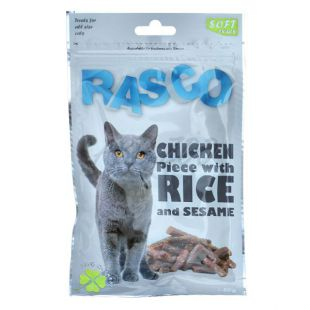 Pamlsky RASCO - kuracie mäso s ryžou a sezamom, 80 g