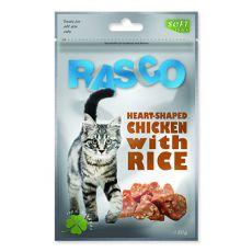 Pamlsky RASCO - srdiečka z ryže a kuracieho mäsa, 80 g