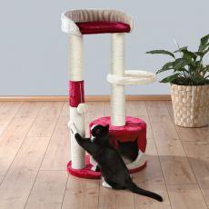 Škrabadlo pre mačky PILAR - béžovo červené, 100 cm