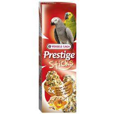 Tyčinky pre papagáje PRESTIGE STICKS 2 ks - orechy a med, 140g