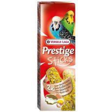 Tyčinky pre andulky PRESTIGE STICKS 2 ks - ustrice a vajce, 60g