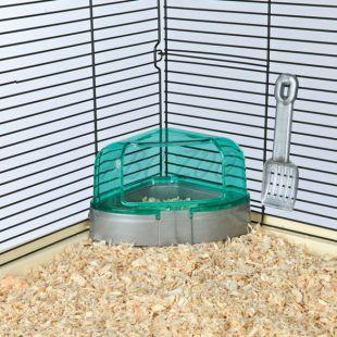 Toaleta s lopatkou pre drobné hlodavce - 14 x 8 x 11 cm