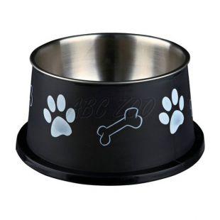Miska pre psy s dlhými ušami, čierna - 0,9 L
