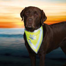 Reflexná šatka pre psa s potlačou - veľkosť S-M