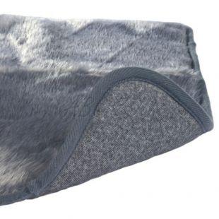 Termo ležadlo pre psa sivej farby  - 100x75cm