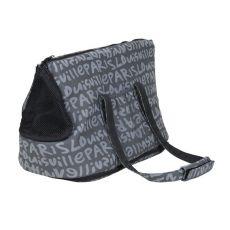 Taška pre psa a mačky Yasmin, sivá s potlačou - 25×30×45cm