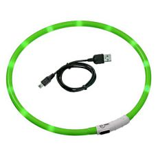 LED obojok pre psy DOG FANTASY - zelený, 70 cm