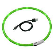LED obojok pre psy DOG FANTASY - zelený, 45 cm