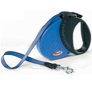 Flexi vodítko Comfort Compact 2 do 25kg - 5m popruh, tmavomodré