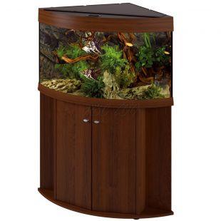 Akvárium Ferplast DUBAI CORNER 90 ORECH - 180L + skrinka