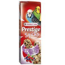 Tyčinky pre andulky Prestige Sticks 2ks - lesné plody, 60g