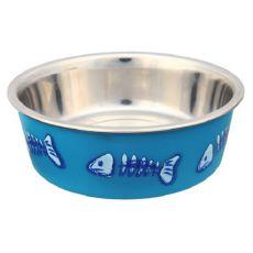 Nerezová miska modrá s plastovým poťahom - 0,3l, 12 cm