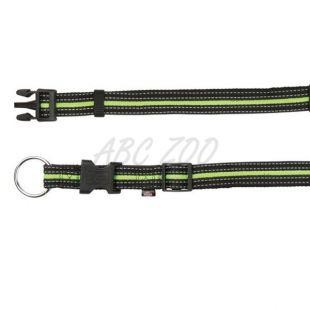 Nylonový obojok pre psov - zelenočierny, L-XL