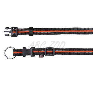 Nylonový obojok pre psov - oranžovočierny, L-XL