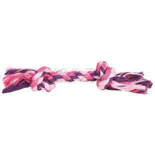 Bavlnené lanko s uzlami na hranie pre psa - 28cm