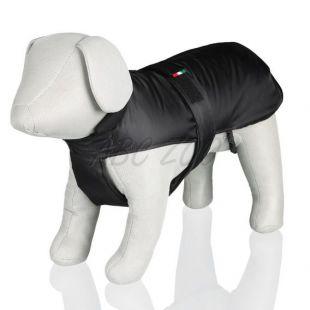 Bunda pre psa s bavlneným golierom, čierna - S / 31-56cm
