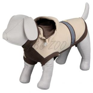 Mikina pre psa s kapucňou a reflexným pásikom - XS / 35cm
