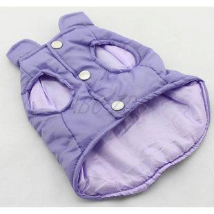Vestička pre psa - prešívaná fialovej farby, M