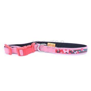 Obojok pre psov s motívom kostičiek, ružový - 1,5 x 35cm
