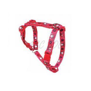 Postroj pre psa s lebkami, červený - L / 2x50x80cm