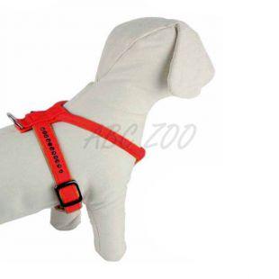 Postroj s kamienkami pre psa, červený - 1,5x32x40cm