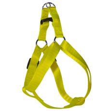 Postroj pre psa neon žltý, 1,6 x 30-45cm