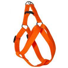 Postroj pre psa neon oranžový, 1,6 x 30-45cm