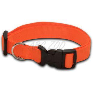 Obojok pre psa neon oranžový - 1 x 20-32 cm