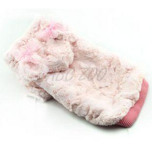 Mikina pre psov s kapucňou a uškami, ružová - L