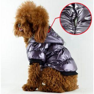 Vetrovka pre psa - pérová, fialová, XL