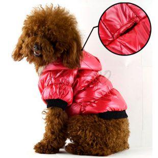 Vetrovka pre psa - pérová, červená, XL
