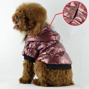 Vetrovka pre psa - pérová, bordová, XS
