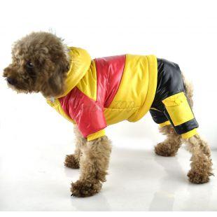 Bunda pre psa - žlto-ružová, XL