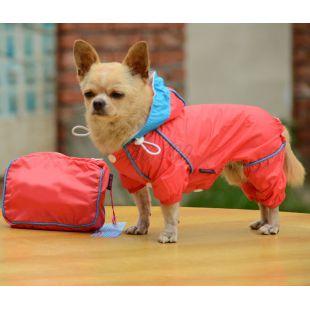 Pršiplášť pre psa v puzdre - ružový, XL