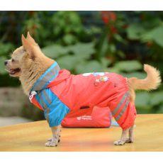 Pršiplášť so vzorom dievčatka pre psa - ružový, XL