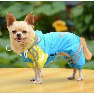 Pršiplášť so vzorom dievčatka pre psa - modrý, XL