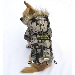 Bunda pre psa - sivá, XL