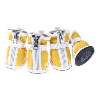 Topánky pre psov - so suchým zipsom - žlté, L