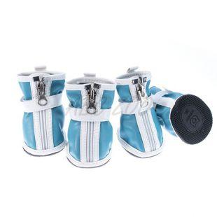 Topánky pre psov - so suchým zipsom - modré, XL
