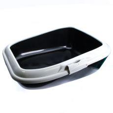 Toaleta pre mačky MODERNA - čierna - 56 x 43,5 x 19 cm