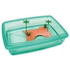 Bazén pre korytnačky - zelený - 43,5 x 34 x 11 cm